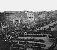 President Lincoln's Funeral Procession on Pennsylvania Ave Stereograph