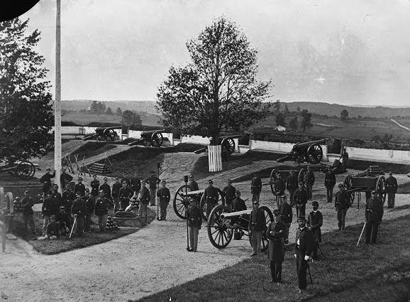 Company F, 3d Massachusetts Heavy Artillery, in Fort Stevens