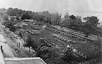Aerial view of Washington Armory Yard