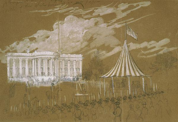 Flag raising at the White House
