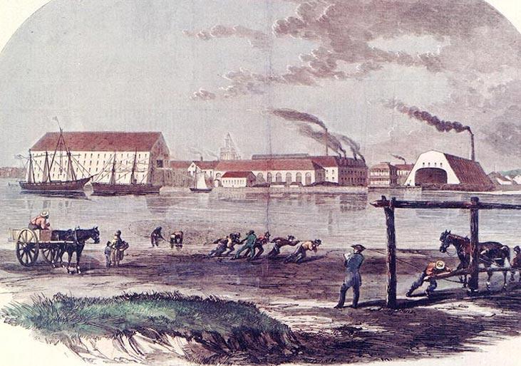 Washington Navy Yard with Shad Fishers