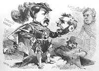 George McClellan (Hamlet) holding head of Abraham Lincoln