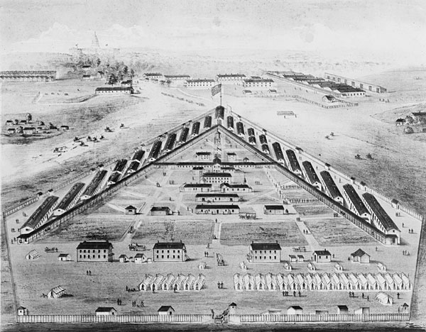 Bird's Eye View of Lincoln US General Hospital