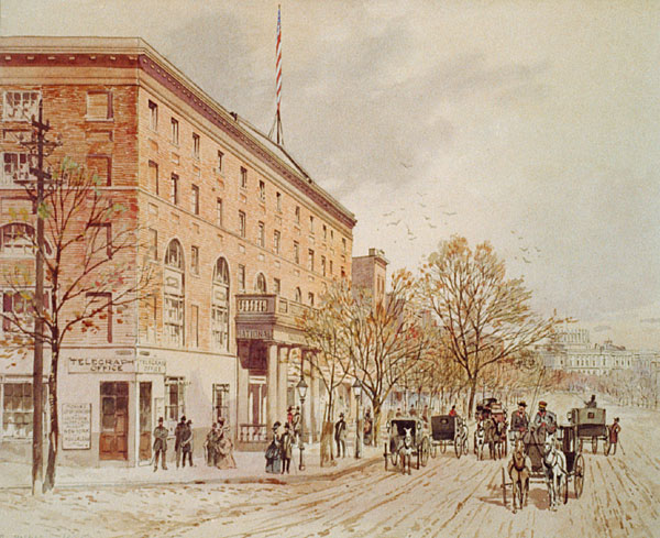 National Hotel and Telegraph Office, at Pennsylvania and 6th Street