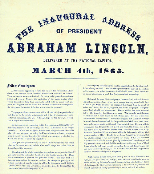 The Inaugural Address