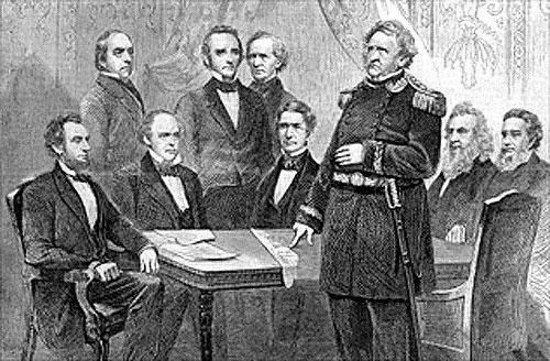 Lincoln and His Cabinet with General Winfield Scott