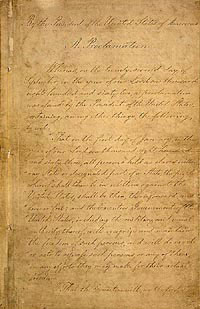 Final Emancipation Proclamation, Page 1