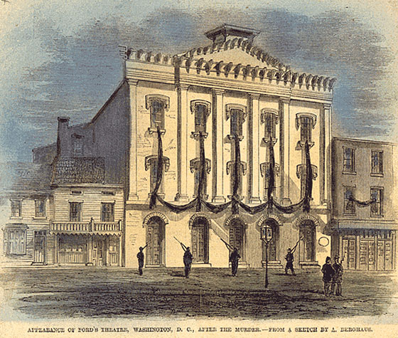 Appearance of Ford's Theatre, Washington DC, after Lincoln's Assassination
