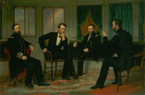 The Peacemakers (David Dixon Porter, Abraham Lincoln, Ulysses S. Grant, William T. Sherman)