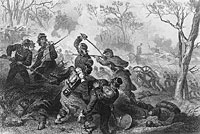 Death of Col. Baker at Ball's Bluff
