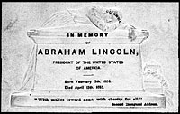 Mourning Card, printed immediately after President Lincoln's Death