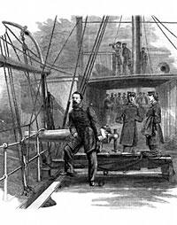 David Dixon Porter on board U.S.S. Juanita