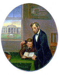 Painting of Thomas & Abraham Lincoln