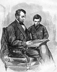 Sketch of Thomas and Abraham Lincoln