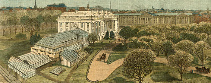 View of the White House and Grounds, from the Army and Navy Buildings
