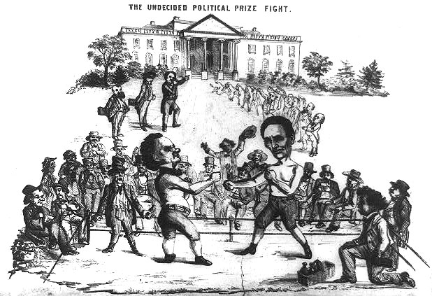 The Undecided Political Prize Fight, Abraham Lincoln and Stephan Douglas