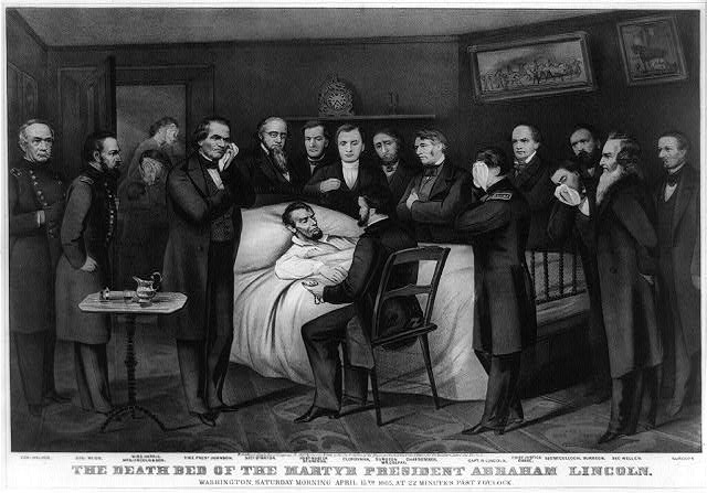 The Death Bed of President Lincoln
