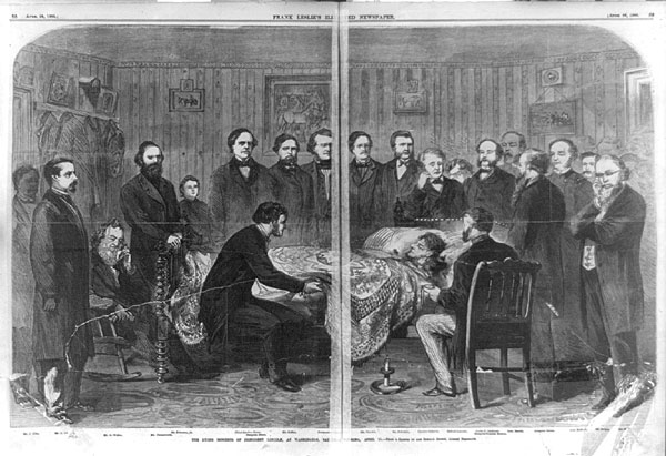 The dying moments of President Lincoln
