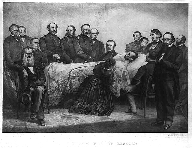 Death bed of Lincoln