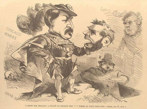 George McClellan (Hamlet) holding head of Abraham Lincoln