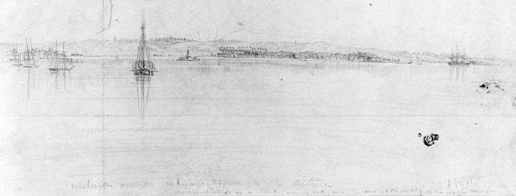 View across the Potomac toward the Washington Arsenal