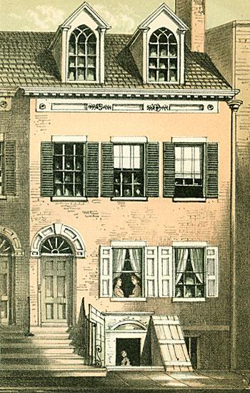Birth home of Hon. Schuyler Colfax, No. 86 North Moore Street, New York 1865