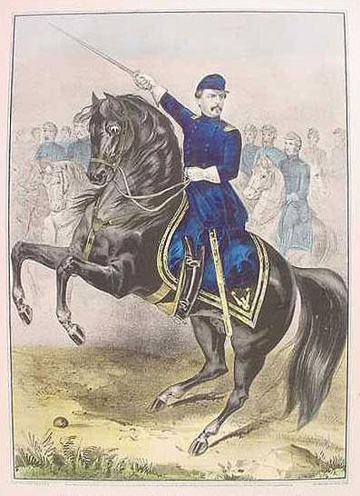 Majr. Genl. George B. Mc.Clellan, At The Battle Of Antietam, Sept. 17th, 1862