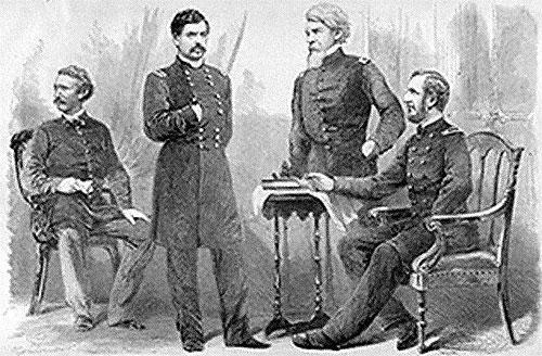 George B. McClellan and Staff