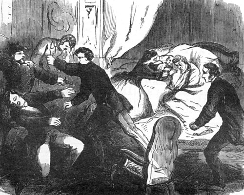 Fight with Assassin in William H. Seward's Room