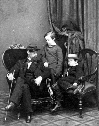 Captain Lockwood Todd, William Wallace Lincoln and Tad Lincoln